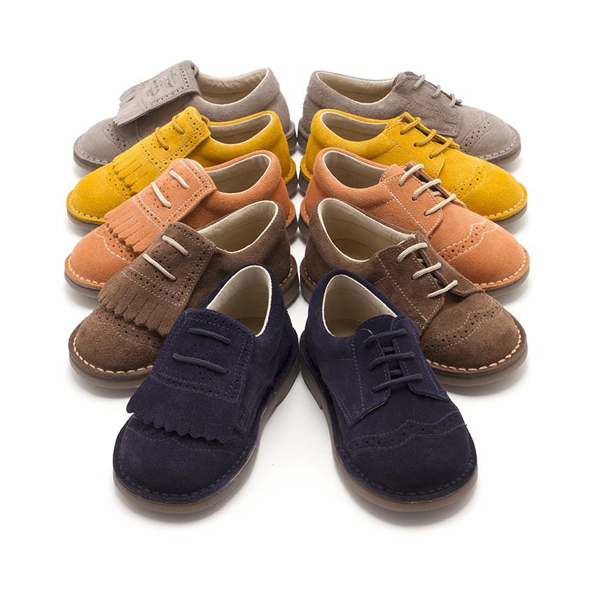 Zapatos blucher ni os flecos calzado infantil barato for Casas zapatos ninos