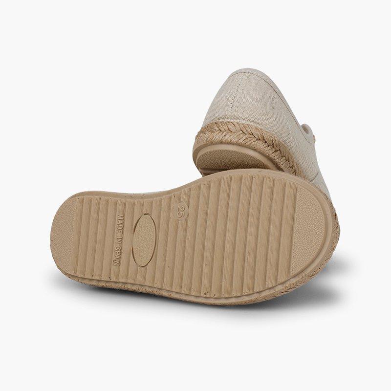 Zapatillas niños suela y cordones yute