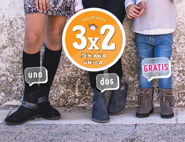 3x2 Botas Niña