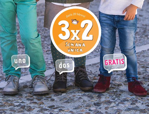 3x2 Botas Niño