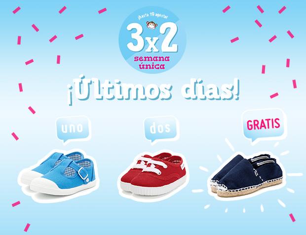 Zapatillas Niño 3x2