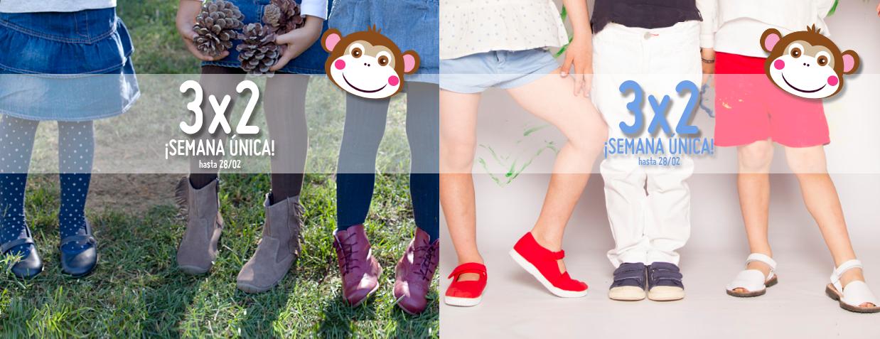 3x2 en zapatos de verano y de invierno