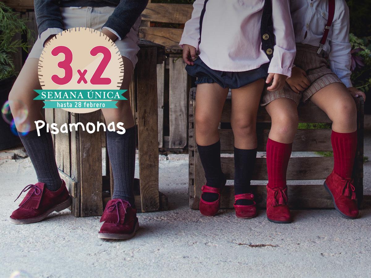 3x2 Febrero Pisamonas Zapatos para Niños