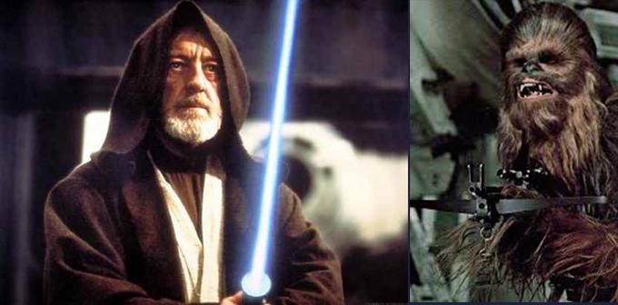 Obi y Chewbacca
