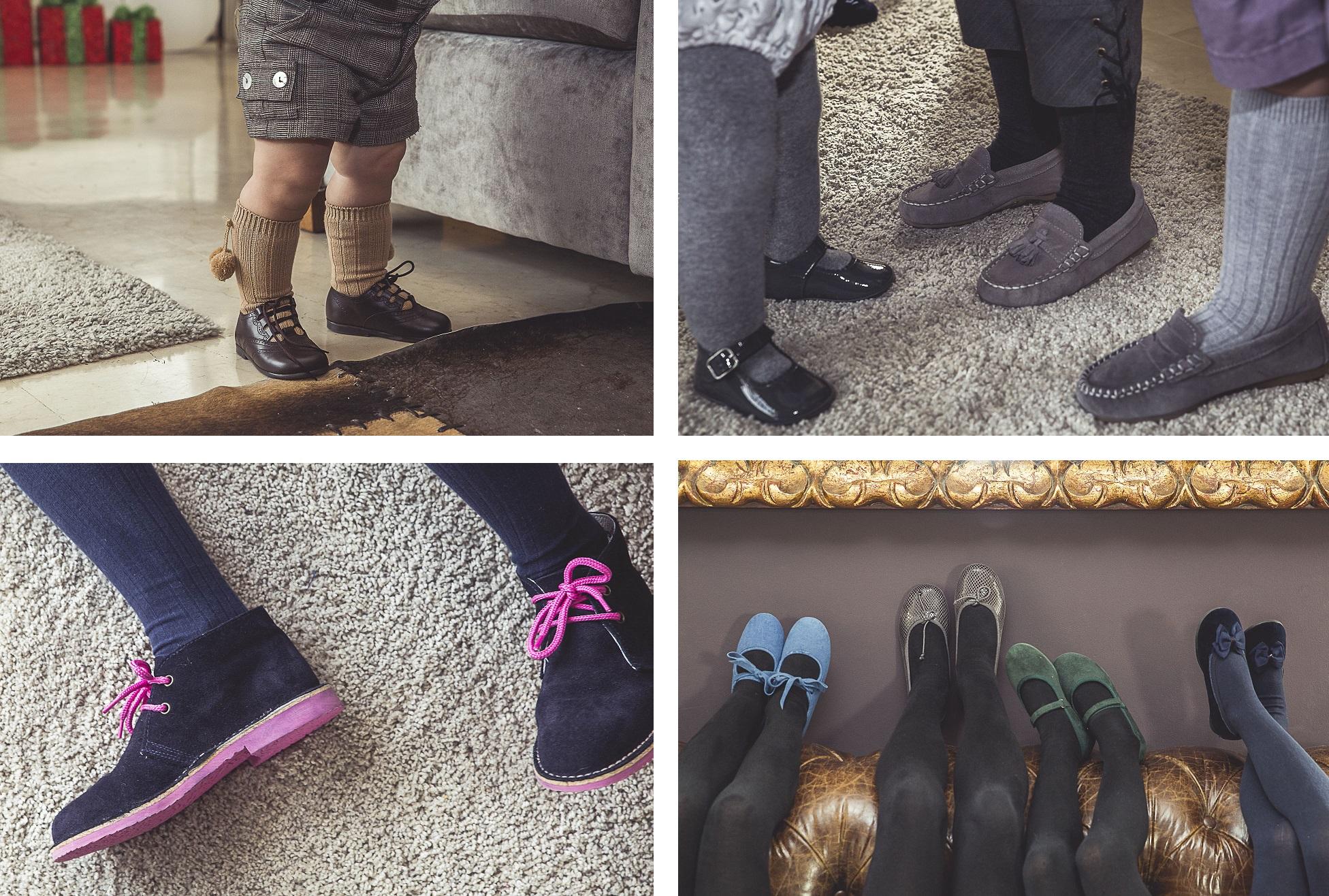 Variedad de zapatos para Navidad