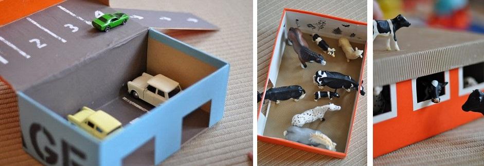 Manualidades infantiles con cajas de zapatos