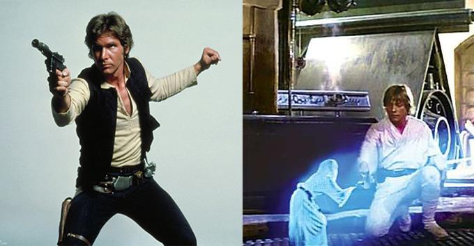 Luke y Han Solo