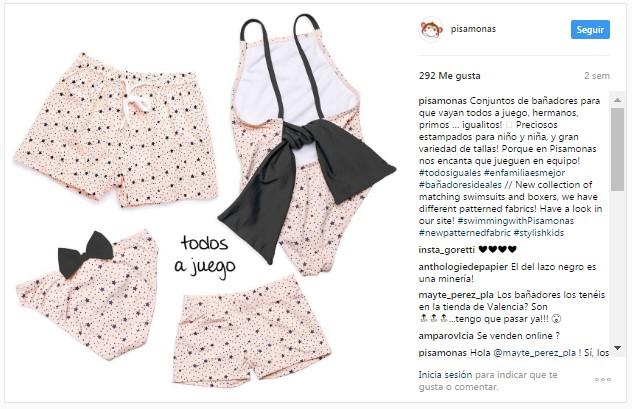Instagram pisamonas bañadores coleccion baño infantil