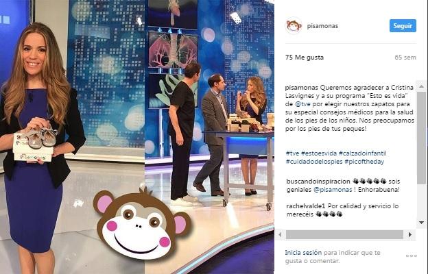 Instagram pisamonas consejos medicos zapatos niños en television