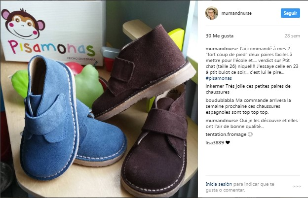 Instagram pisamonas pedido recibido clientes