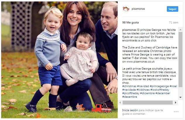 Instagram pisamonas principe george duques cambridge