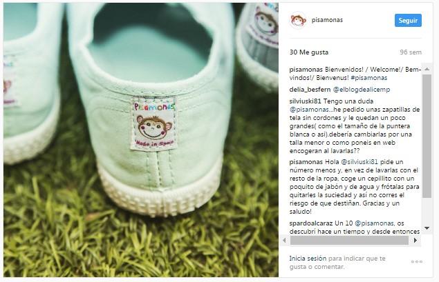 Instagram pisamonas zapatillas