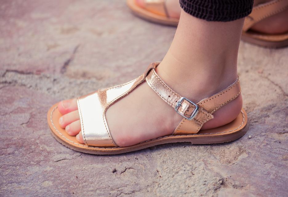 Como elegir sandalias según tipo de pie