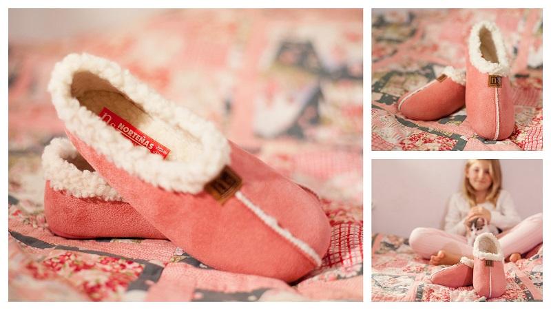 Zapatillas casa borreguito niñas